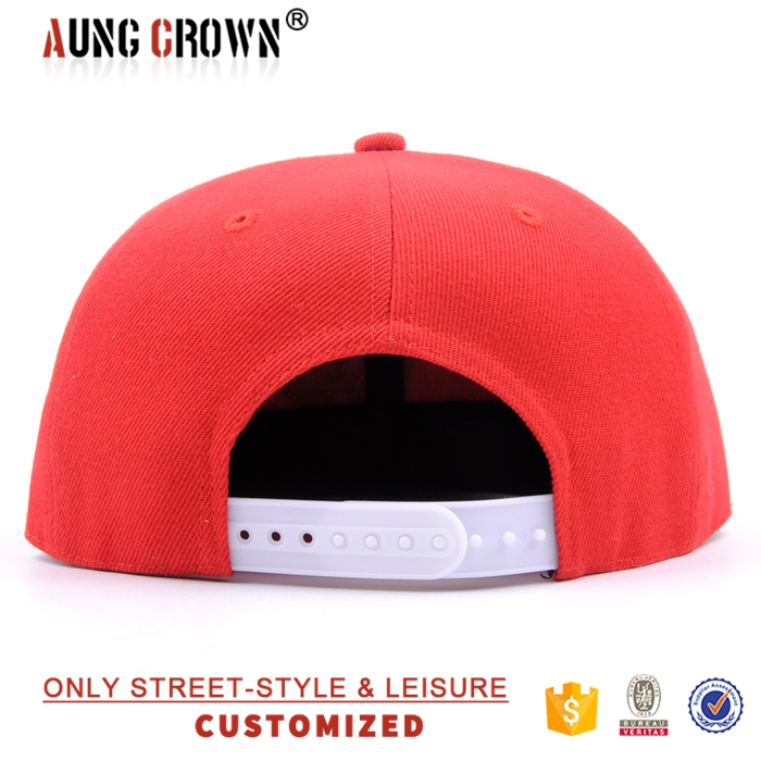 fresh prince red embroidery funny logo snap back hats with black brim