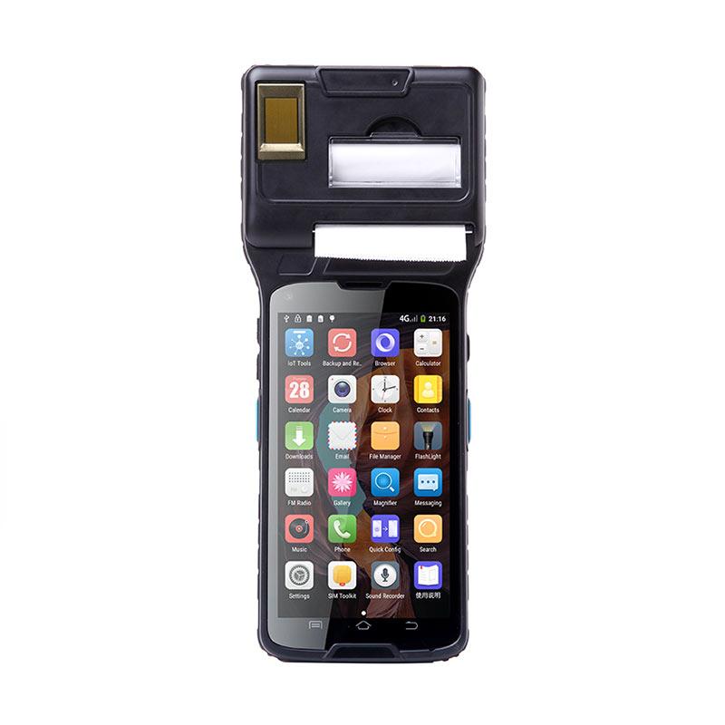 Карманный qr-код RAKINDA nfc, мини-Распознавание отпечатков пальцев, android edc pos-терминал с принтером и rfid