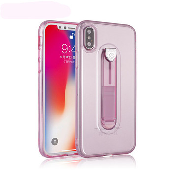 Clear TPU Silicone Case Hide Ring Stand Holder Phone Cases For iPhone X XR XS Max 6 6S 7 8 Plus 5 5S SE Five colors Back Cover