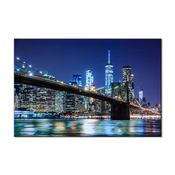 city night Bridge landscape painting famous picture wall art canvas painting yiwu wholesale acrylic frame painting for home
