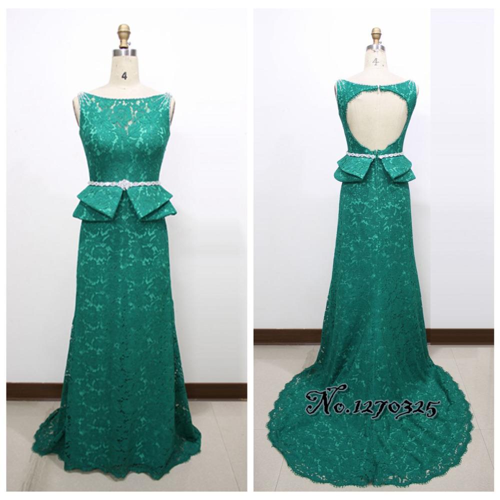 Vestido DE formatura longo 2016 new lace dark green PROM ...