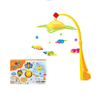 plastic music mobiles with projector baby musical hanging toys