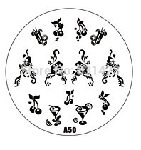 2015 new A Series A50 Nail Art Polish DIY Stamping Plates Image Templates Nail Stamp Stencil