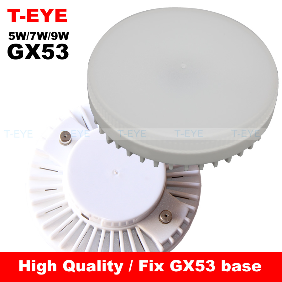 5w 7w 9w led lamp gx53 base smd2835 25 pcs leds bulbs ac 110v 220v 240v warm cold white led. Black Bedroom Furniture Sets. Home Design Ideas