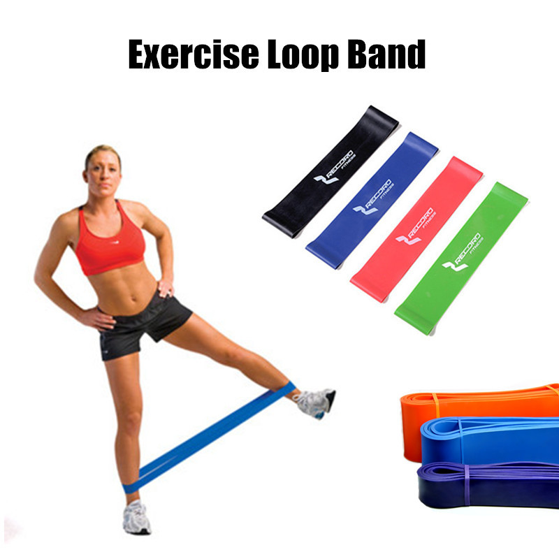 50pcs/lot~Exercise Stretching Loop Band~100% Latex with 4