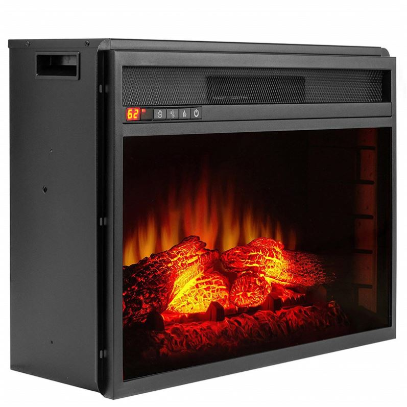 Электрический камин, классический декоративный электрический камин с пламенем, 18 дюймов