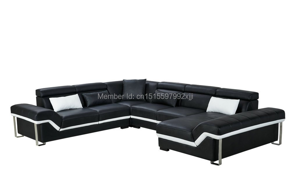 US $1780.0 |2019 Armchair Chaise European Style Bean Bag Chair Sofas For  Living Room Muebles Modern Leather Sofa With Steel Leg Corner Real-in  Living ...
