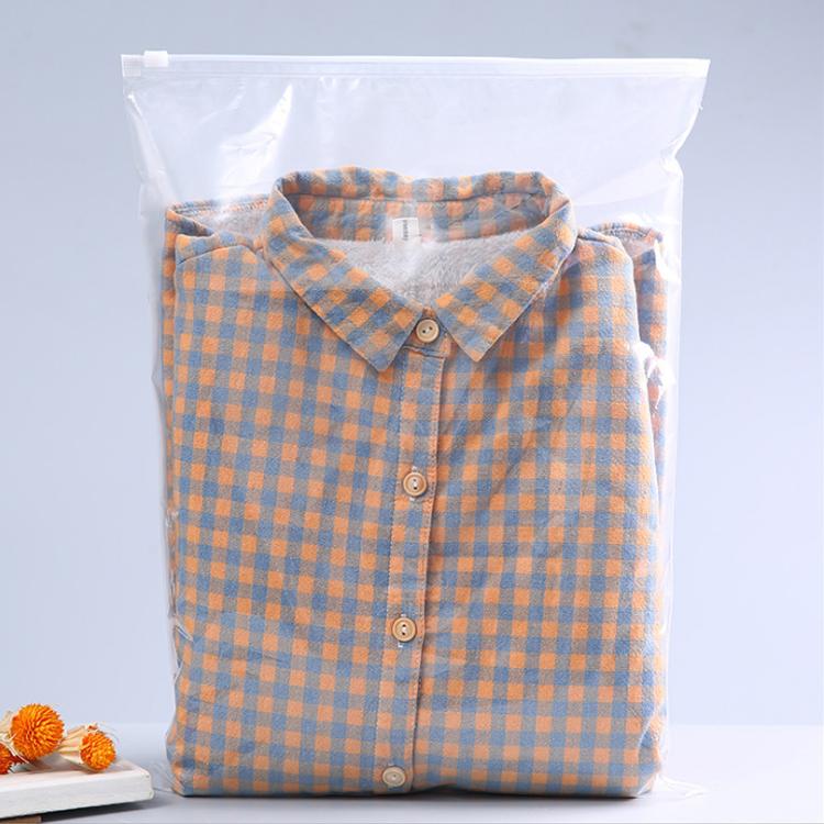 Custom Printing Frosted Zipper Lock Slider Clothing Packing Zipper Bag