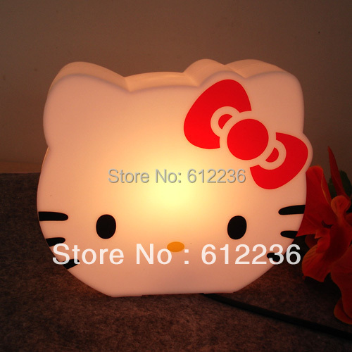 new hello kitty table lamp night lights fashion cute piggy bank beautiful for kids bedroom. Black Bedroom Furniture Sets. Home Design Ideas