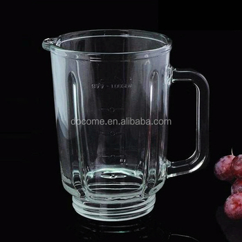 GA-BL-A03 Round 0.8L Soda lime Glass Blender Jar Parts for Juicer and Mixer OEM Glass Beaker for National
