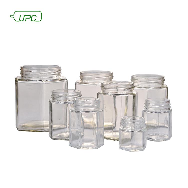 UPC банка для пищевой марки, профессиональная прозрачная переработанная металлическая крышка, квадратные стеклянные бутылки для хранения и банки, крышка короны, горячее тиснение, напитки