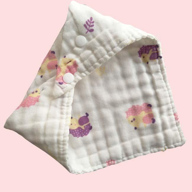 wholesale breathe free muslin feeding Infant Newborn triangle scarf baby drool Bib