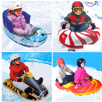 Qshare Tube /à neige 119,1 cm luge gonflable robuste avec 2 poign/ées et fond id/éal pour les adultes et les enfants tubes durables fabriqu/és en mat/ériau /épais de 0,6 mm jouet id/éal pour la neige