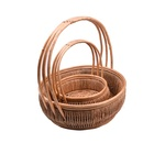 Wicker Wickerwicker Wicker Basket For Gifts Customized Natural Cheap Gift Wicker Basket With Handle/wholesale Mini Willow Wicker Basket With Handle For Flower