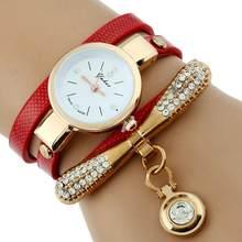 Gnova Platinum модные роскошные брендовые новые женские золотые часы-браслет со стразами женские кварцевые повседневные наручные часы из искусст...(Китай)