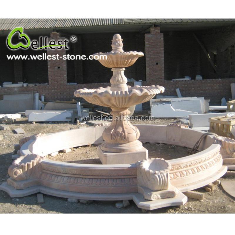 Природный камень сада Тянь-красный гранита ванна птицы отточенные отделка