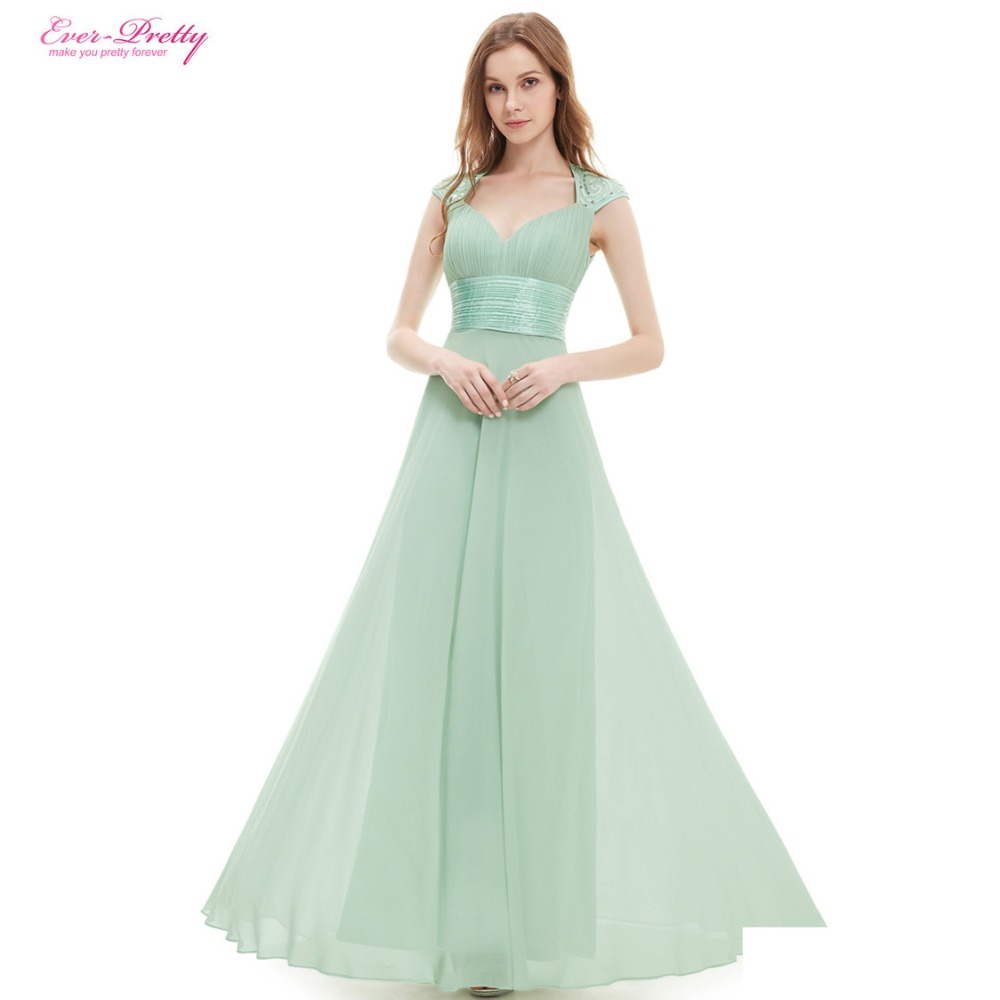 Bridesmaid Dresses V neck Sequins Chiffon Empire Long ...