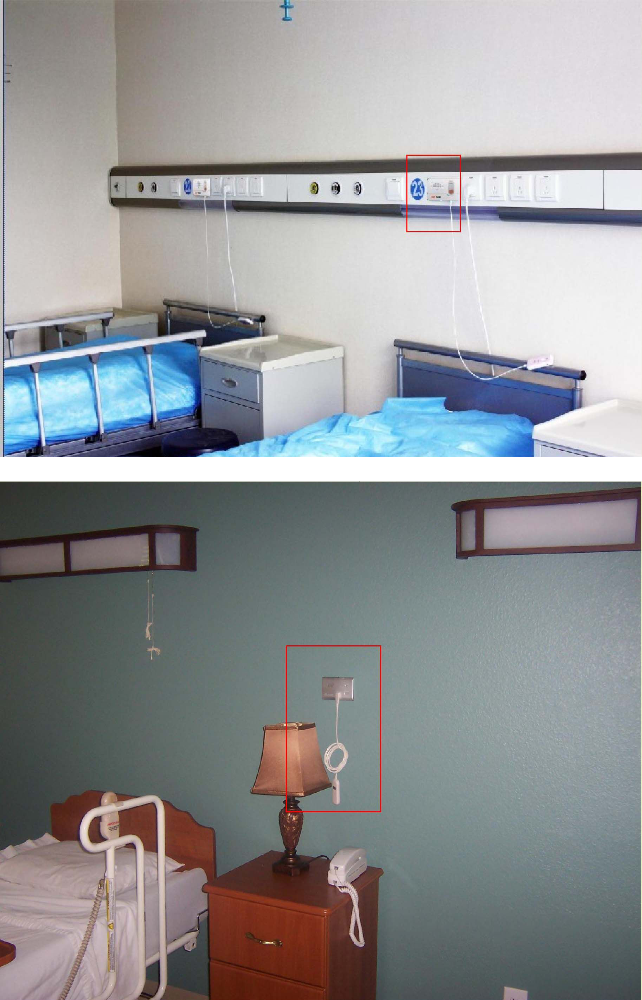 THR-ND928 медсестры-пациента Больничная койка с масштабом