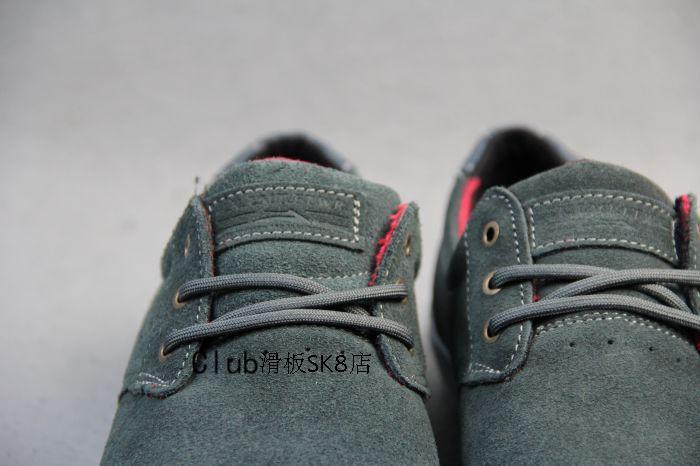 Мужчины скейтборд обувь кроссовки - мех Lakai MJ темно-серый Athletic обувь