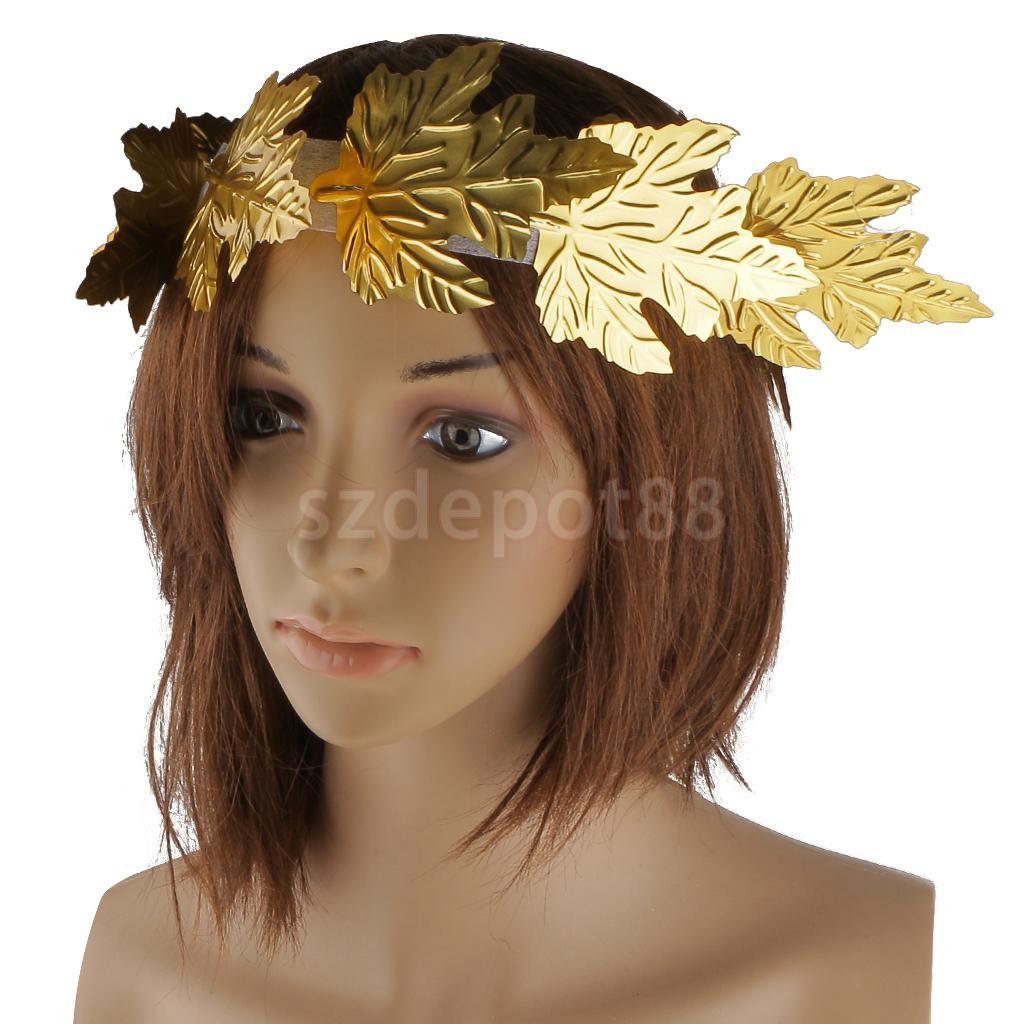 Gold Leaf Roman Greek Goddess Laurel Wreath Fancy Dress ...