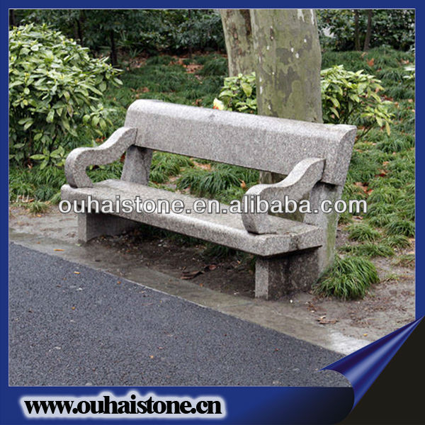 High Polished And Carved Granite Chair Stone Park Benches