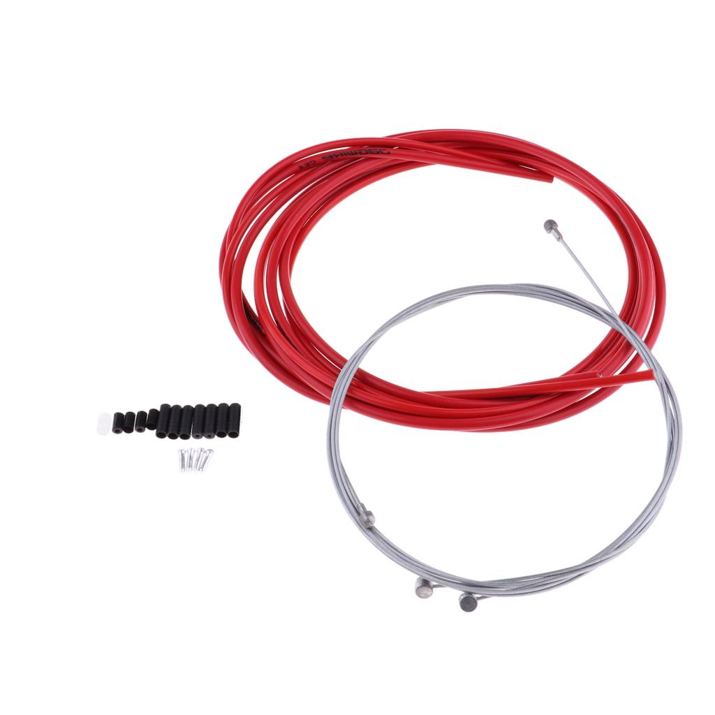 Bike Brake Cable Shift Set Hose Replacement Kit Red for Moutain Road Bike Cycling Repairing