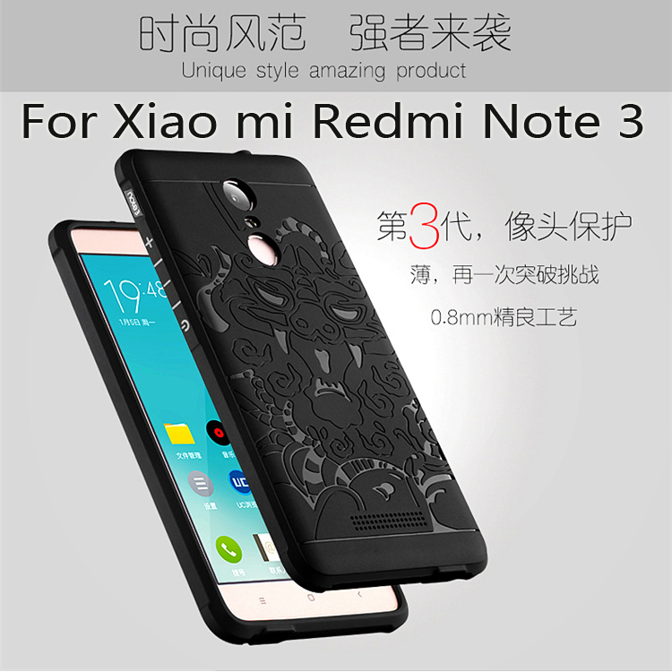 8137388d162 Luxury phone case For xiaomi redmi note 3 Soft silicon Protective back  cover cases for Xiaomi