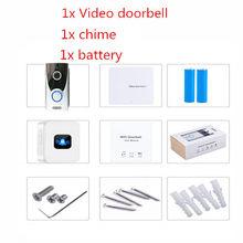 Беспроводной дверной звонок UCYBO, Wi-Fi, 1080P, HD, видеодомофон, домашняя камера безопасности, ip, инфракрасный pir сигнал, видеодомофон(China)