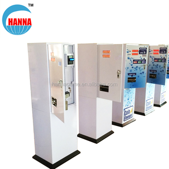 Automatic token changer machine and coin changer vending machine for shopping mall , amusement park and laundry room