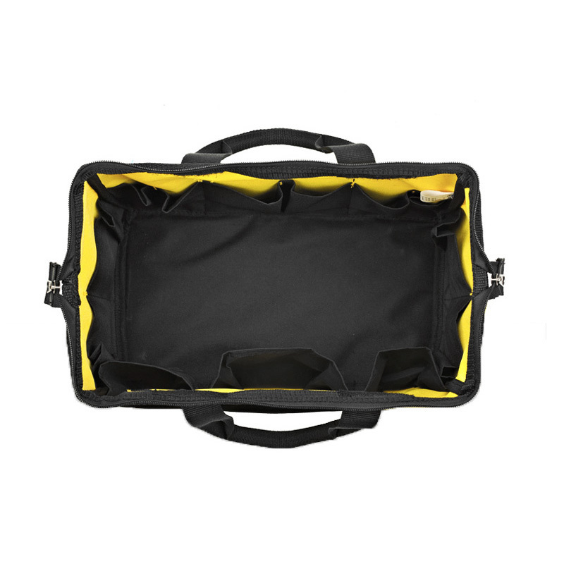 Foldable Portable Waterproof work yellow and black Single Shoulde Tool Bags