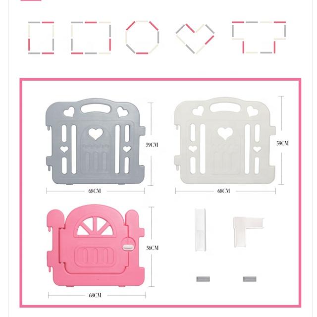 Регулируемый квадратный Безопасный детский вафельный манеж, детский пластиковый манеж для Манежа, манеж для безопасности детей