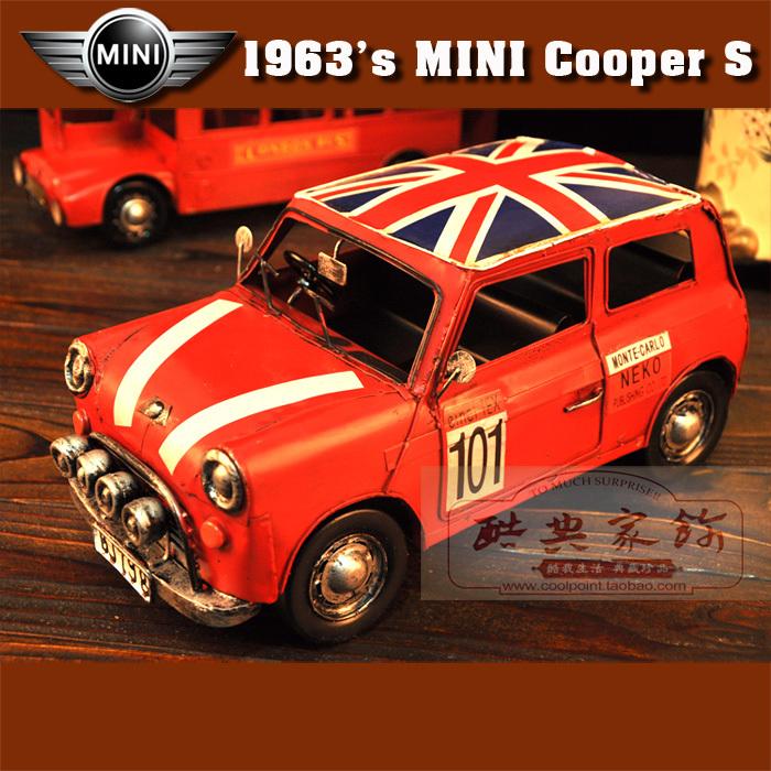 Mini Cooper Model, Britain Flag Iron Classic Cars,retro
