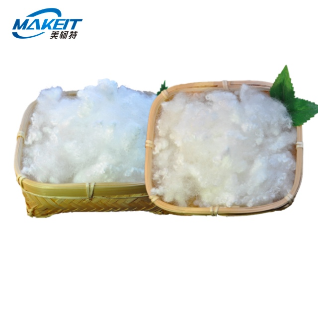 Makeit polyester staple fiber Virgin material White Siliconized for filling soft toy stuffing for teddy bears, cushions, crafts.