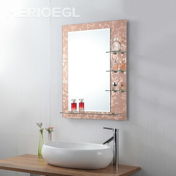 Cheap Price Ce Framed Wide Used Bathroom Mirror With Glass Shelf Buy Bathroom Mirror Bathroom Mirror With Glass Shelf Framed Mirror Product On Alibaba Com