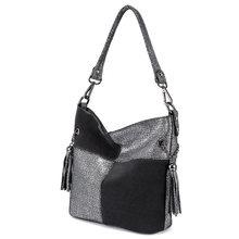 Realer женская сумка из натуральной кожи, женская сумка через плечо, Лоскутная Высококачественная сумка-мессенджер, женская дизайнерская роск...(Китай)