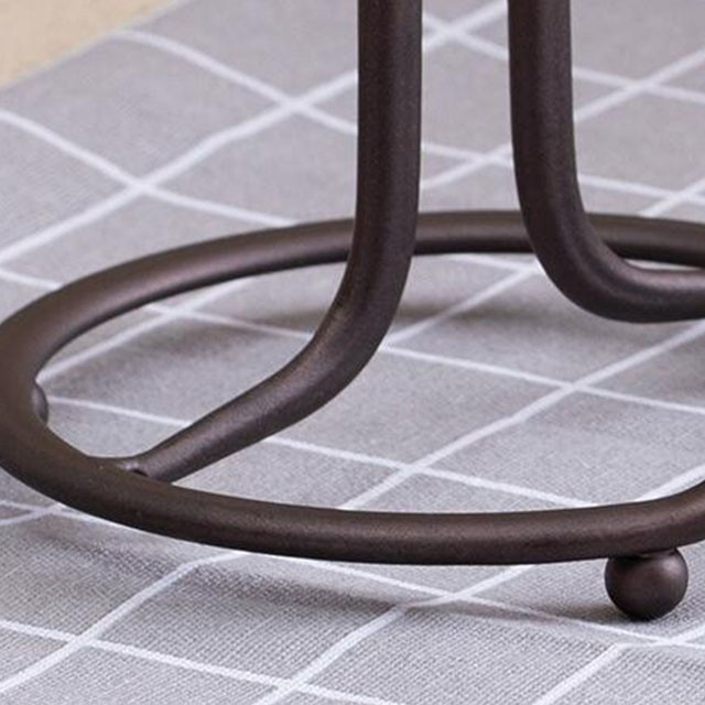 Bronze Metal Wire Plated Paper Towel Roll Holder Stand with bronze color for Kitchen Countertops