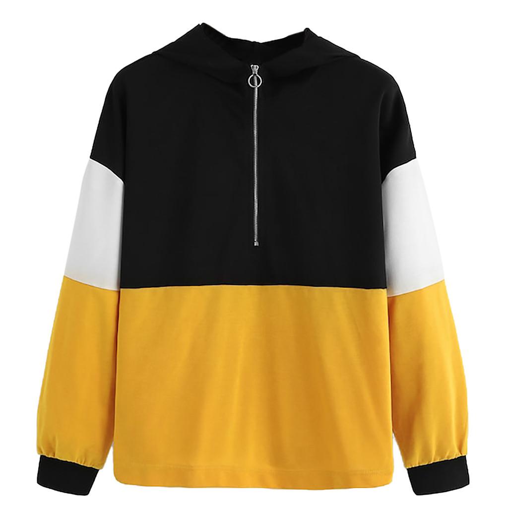 Multicolore 201 À Manches Col Sweatshirt Capuche Athleisure Montant Raglan Pour Pulls Femmes oCrdBxe