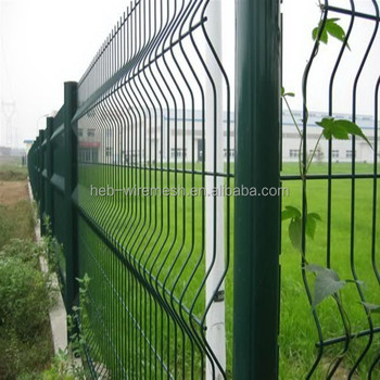 backyard metal fence/house gate designs/curve wire mesh fence