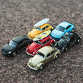Boxed 5 inch simulation alloy car model Volkswagen Beetle Strong pull back Two doors can be
