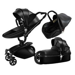 Белая дорожная система, Роскошная детская коляска 3 в 1 с люлькой и сиденьем