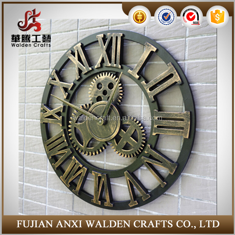 Handmade Oversized 3d Retro Rustic Decorative Luxury Art Big Gear Wooden Vintage Large Wall Clock On The Wall For Gift Buy Wall Clock Wooden Wall Clock Gear Wall Clock Product On Alibaba Com
