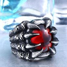 Высокая Qiuality тяжелый металл Дракон коготь кольцо CZ Циркон преувеличены личности ювелирные изделия BR8-046(Китай)