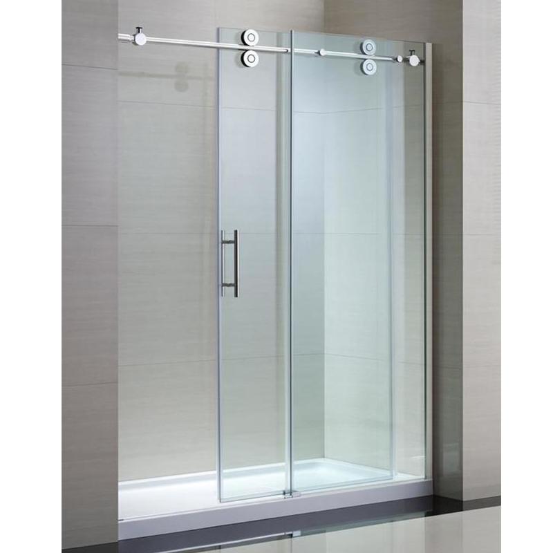 Double Wheels Bathroom Sliding Glass Door System Frameless Shower Glass Hardware Buy Bathroom Sliding Glass Door Hardware Shower Sliding Door Parts Frameless Glass Sliding Door Hardware Product On Alibaba Com