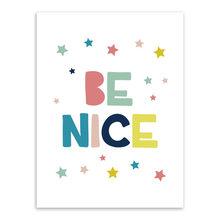 Современные красочные теплые слова, благословение, предложение, принт, A4, детская Настенная картина, скандинавский каваи, декор для детской ...(Китай)