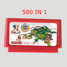 500 In 1 Game card Real 400 Games 60 Pin 8 Bit Game cartridge Custom sticker/cover Best selling!