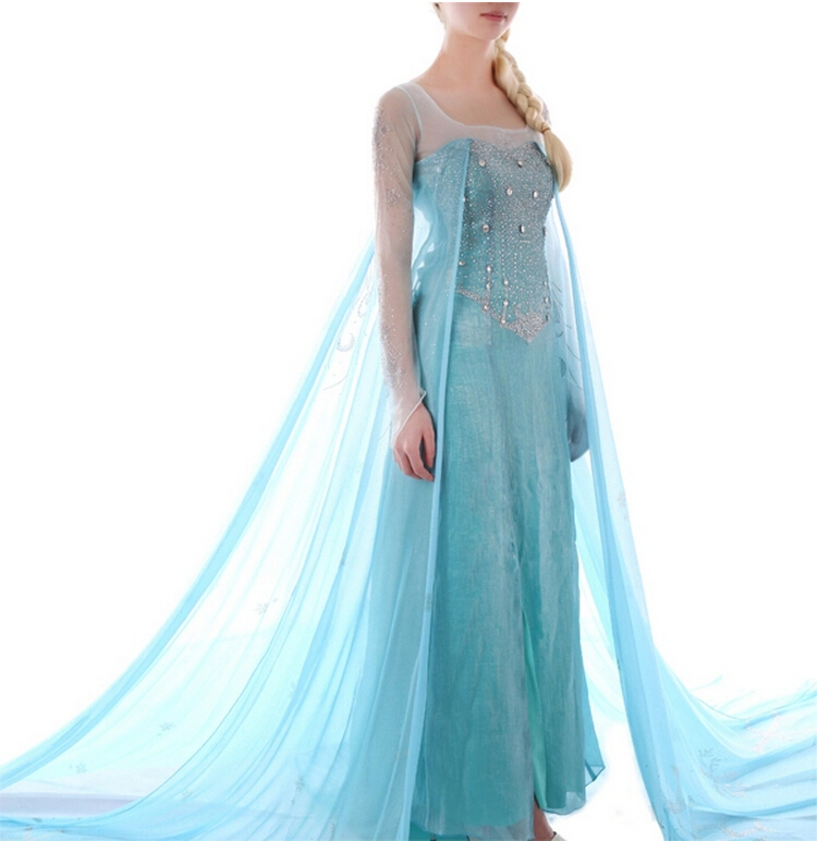 vestido elsa erwachsene prinzessin elsa cosplay kleid in elsa princess cosplay anime costume for. Black Bedroom Furniture Sets. Home Design Ideas