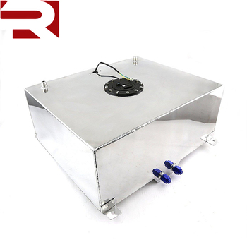 20 Gallon 80L Lightweight Polished Aluminum Race Drift Fuel Cell Tank