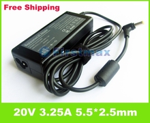 20V 3.25A 65W Laptop battery charger For Lenovo IdeaPad B460 B470 B480 B485 B570 B570e B575 B580 notebook power supply