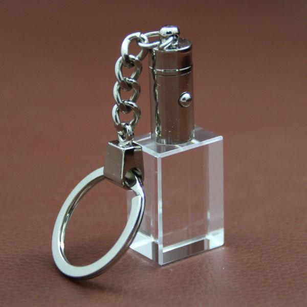 Прямоугольная форма пустой кристалл брелок для 3d лазерной гравировки