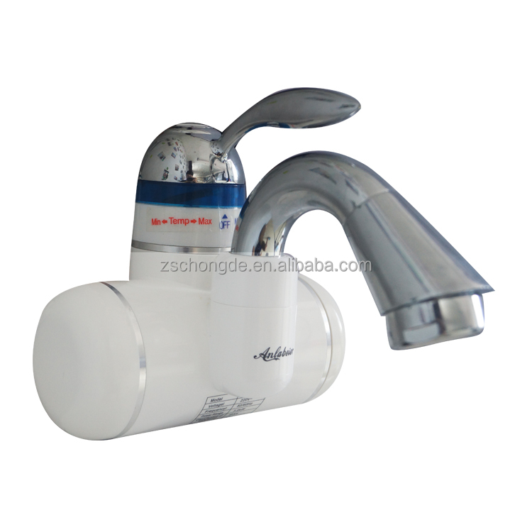 Water Heater 3000W Tankless Electric Water Heaters Instant Single Handle Water Heating Tap Faucet For Kitchen Bathroom